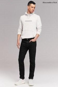 Черные джинсы зауженного кроя Abercrombie & Fitch