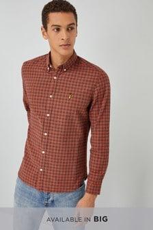 Chemise à manches longues et à carreaux vichy