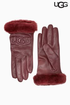 UGG® Berry Classic Leather Logo Gloves