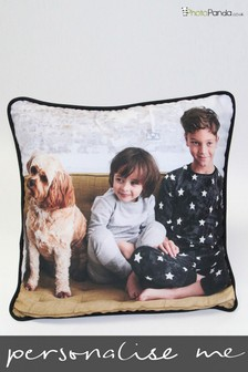 """Personalised 18x18"""" Piped Double Sided Photo Cushion By Photo Panda"""