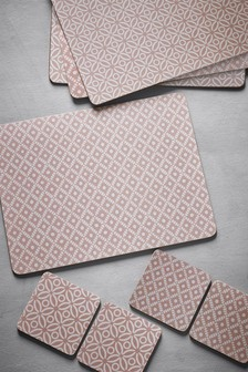 Set of 8 Geo Placemats And Coasters