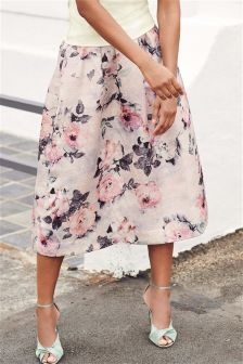 Printed Jacquard Skirt