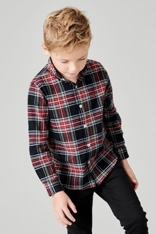 Long Sleeve Check Oxford Shirt (3-16yrs)