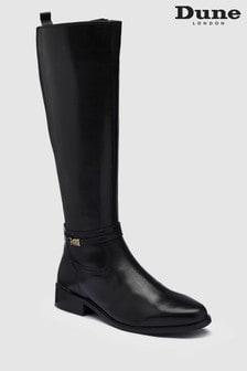 Dune Black Traviss Strap Detail Tall Boot