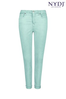 NYDJ Aqua Blue Ami Skinny Ankle Jean With Raw Cuff