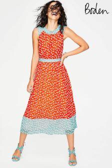 Boden Orange Sylvie Dress
