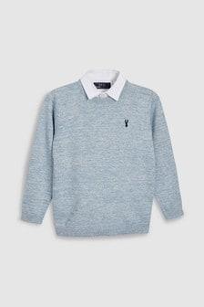 Mock Shirt Jumper (3-16yrs)