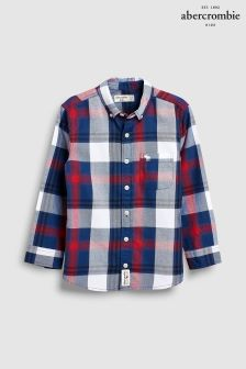 Abercrombie & Fitch Navy/Red Plaid Shirt