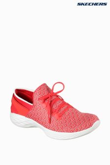 Skechers® You Inspire Red Textured Lace Detail Slip-On