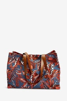 Tiger Print Large Shopper