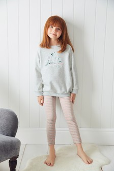 Polar Bear Printed Sweat Top And Leggings Set (3-16yrs)