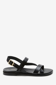 Asymmetric Footbed Sandals
