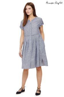 Phase Eight Steel Blue Samara Linen Dress