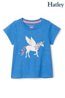 Hatley Blue Mystical Unicorn Graphic T-Shirt
