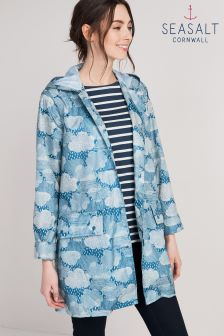 Seasalt Grey Pack It Jacket Cloud Burst Shore Jacket
