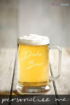 Personalised Dads Beer Glass by Loveabode