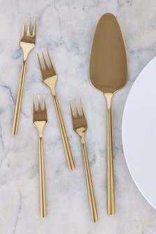 Set of 4 Cake Forks With Cake Slice