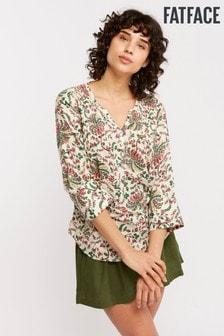 FatFace Natural Poppy Alhambra Palms Popover Shirt