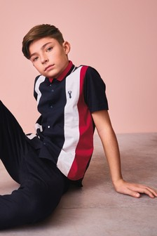 Short Sleeve Colourblock Shirt (3-16yrs)
