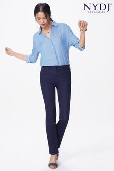 NYDJ Dark Blue Denim Sheri Slim Leg Jean