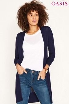 Oasis Blue Edge To Edge Cardigan