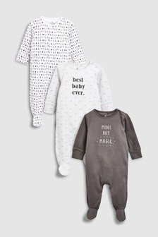 Mini But Magic Sleepsuits Three Pack (0-18mths)