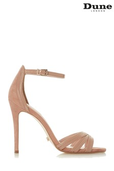 Dune London Nude Mixed Material High Sandal