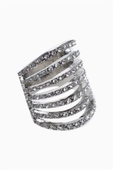 Diamanté Ladder Ring