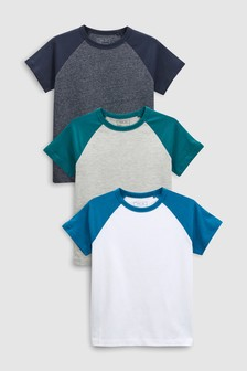 Raglan T-Shirts Three Pack (3-16yrs)