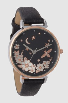 Floral Dial Watch