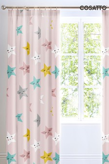 Cosatto Happy Stars Pencil Pleat Curtains