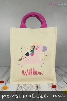 Personalised Unicorn Tote Bag by Loveabode