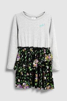 Платье с цветочным узором (3-16 лет)