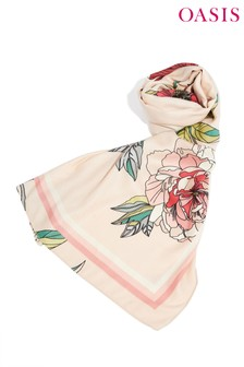 Oasis Natural Bold Bloom Scarf