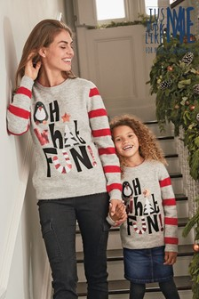 Kids Matching Family Oh What Fun Crew Neck Jumper (3-16yrs)