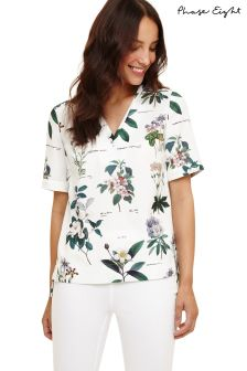 Phase Eight Ivory Multi Chrissy Botanical Print Blouse