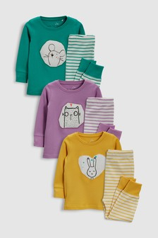 Character Snuggle Fit  Pyjamas Three Pack (9mths-8yrs)