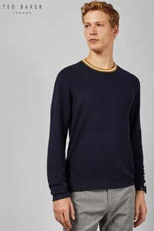 Ted Baker Navy Crew Jumper