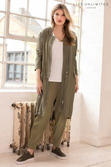 Live Unlimited Green Longline Lightweight Parka