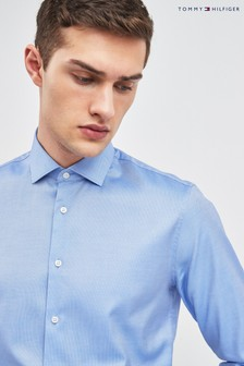 Tommy Hilfiger Blue Tailored Core Stretch Oxford Shirt