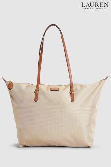 Lauren Ralph Lauren® Nylon-Shopper-Tasche, tonfarben