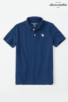 Темно-синяя рубашка поло Abercrombie & Fitch