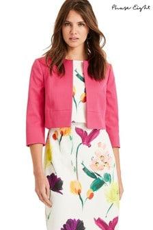 Phase Eight Pink Toni Textured Jacket