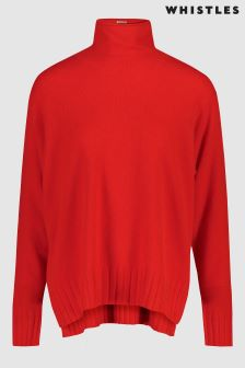 Whistles Red Cashmere Jumper
