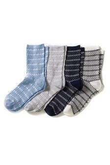 Textured Socks Four Pack
