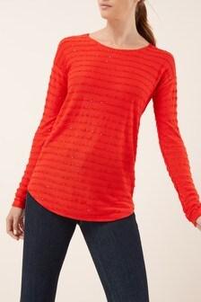 Stripe Sequin Top