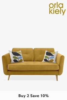 Orla Kiely Ivy Small Sofa with Oak Feet