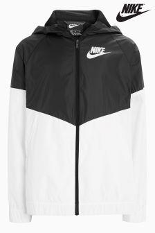 Nike Black/White Wind Runner Jacket