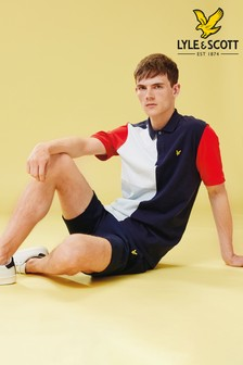 Lyle & Scott Navy/Red Colourblock Poloshirt