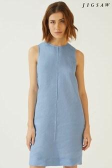 Jigsaw Blue Linen Mix Dress